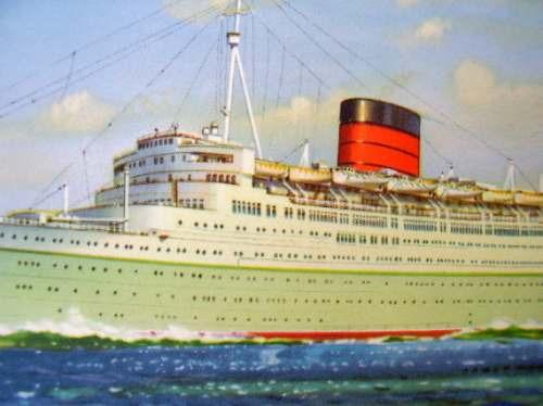 postal barco caronia 1947/60