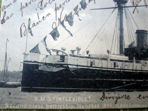 postal barco hms inflexible año 1900