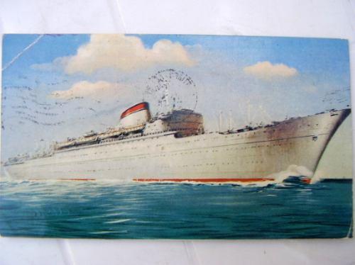 postal barco italia 1960