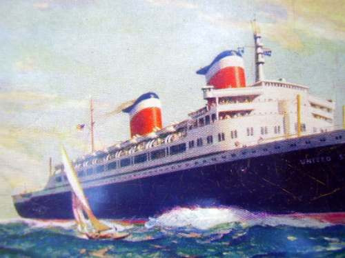 postal barco new ss united state 1953