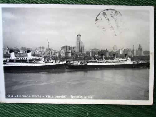 postal barco puerto buenos aires 1938