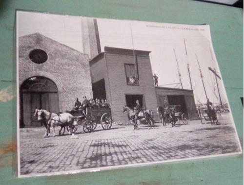 postal bomberos la boca 1900 (envío gratis por carta simple)