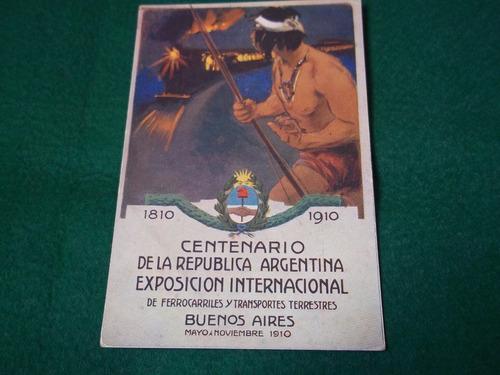 postal centenario 1910