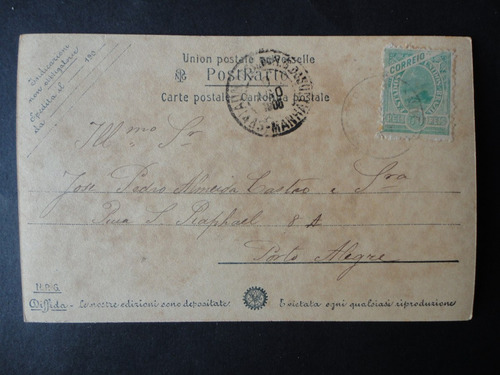 postal circulado de 1905.