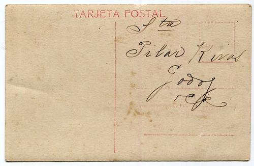 postal con escudo mujer vestimenta y baile tipico español
