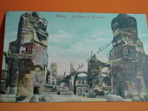 postal de antigua de roma la terme di caracalla