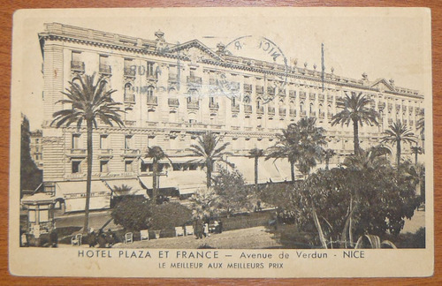 postal de niza hotel plaza et france