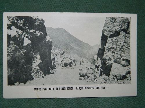 postal de san juan - parque rivadavia