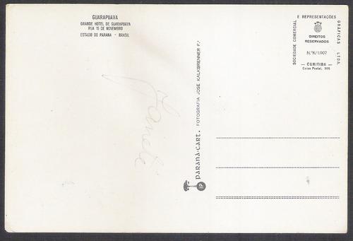 postal do grande hotel de guarapuava rua 15 de novembro.