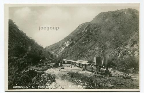 postal ferrocarril casa bamba locomotora rio primero cordoba