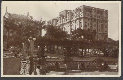 postal fotográfico antigo, hotel esplanada, são paulo.