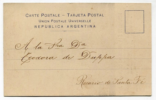 postal franciscana monumento inmaculada echesortu rosario