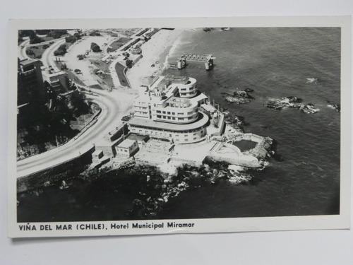 postal hotel municipal miramar. chile 1961