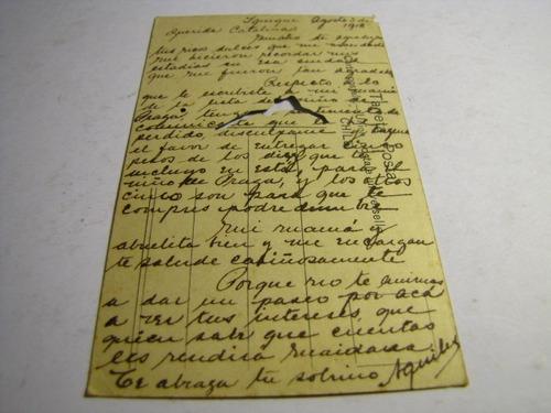 postal iquique cuartel ejercito 1918