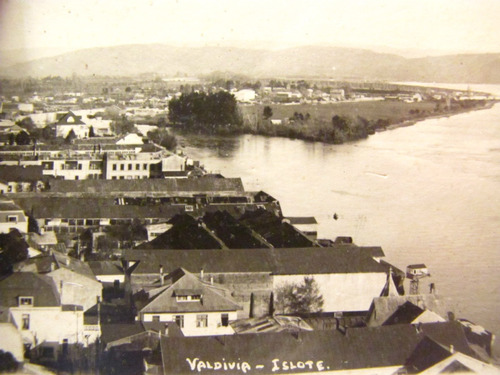 postal islote valdivia. principios siglo xx
