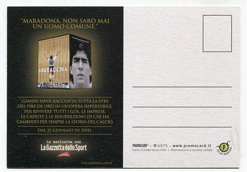 postal italiana argentino juniors futbol diego maradona