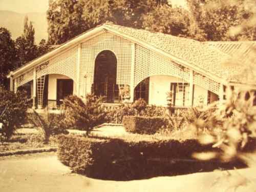 postal jardin terraza, termas panimavida, chile  1932