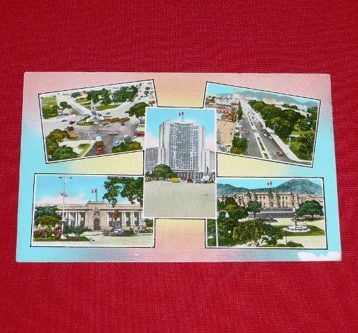 postal lima plaza de armas palacio gobierno congreso antigua