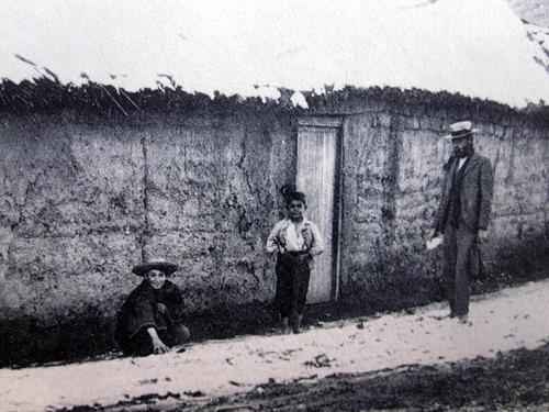 postal los andes rancho huaso año 1900 ap