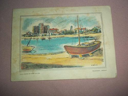 postal maldonado playa mansa punta del este