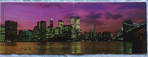 postal new york panoramica año 1988