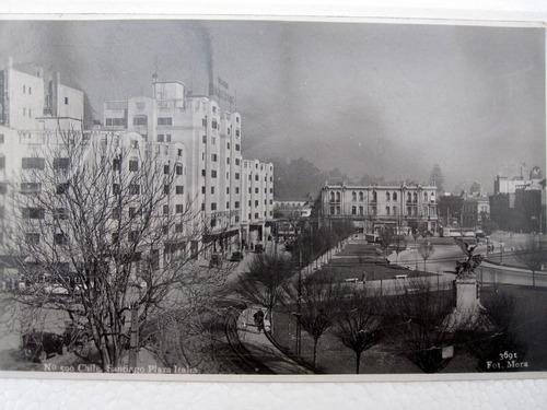 postal plaza baquedano italia años 1938 ap
