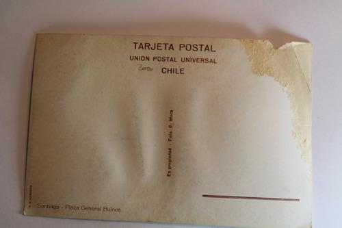 postal plaza general bulnes, chile. mora