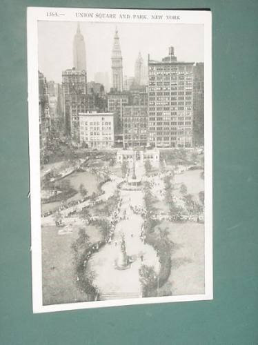 postal postcard arquitectura union square and park new york