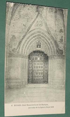 postal postcard españa burgos huelgas 6 portada iglesia