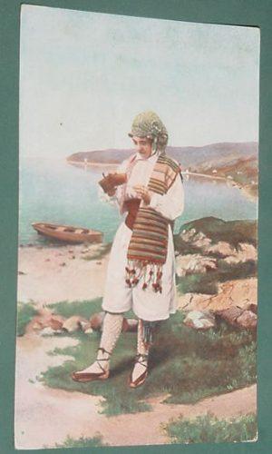 postal postcards infantil niños traje tipico sin data