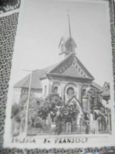 postal pte. p. de valdivia iglesia san francisco. chile