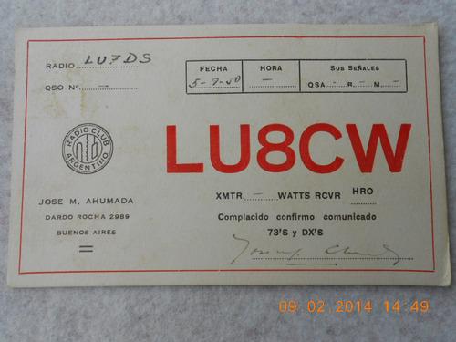 postal radio aficionado buenos aires 1950