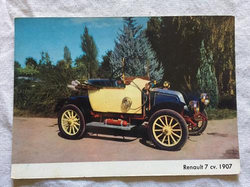 postal renault 7 cv  año 1907