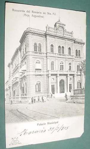postal rosario santa fe palacio municipal 1915 detalles labr