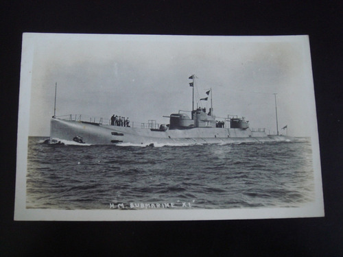 postal submarino h m submarine x 1