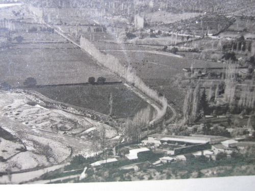 postal valle aconcagua los andes rio aconcagua 1940