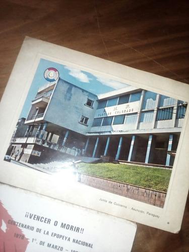 postal y libro alfredo stroessner 1 de marzo de 1970
