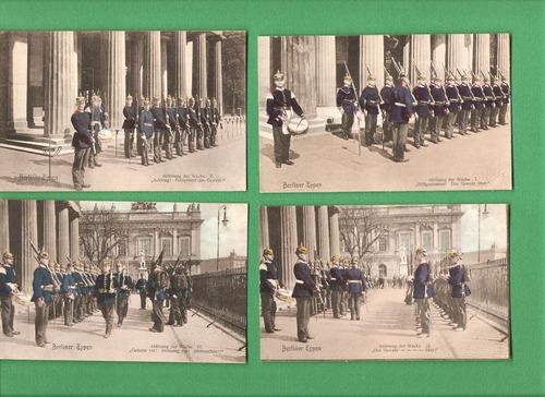 postales alemanas militares principios 1900 (color)