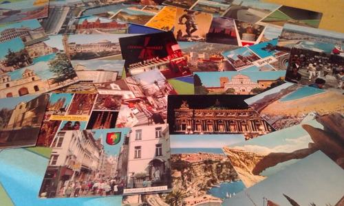 postales antiguas en color por lote usadas!!! son 32!!!
