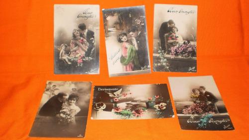 postales antiguas italianas  enamorados