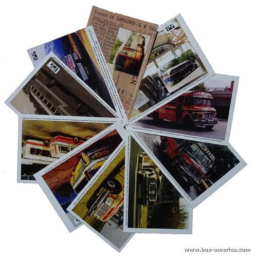 postales bus américa serie 2018 (lote de 10 ejemplares)