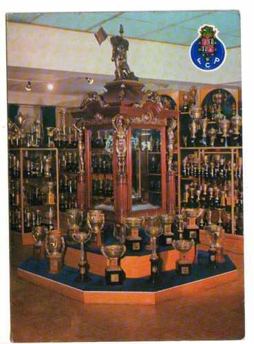 postales club futbol porto, portugal, sala de trofeos
