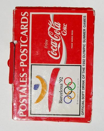 postales coca cola cobi juegos olimpicos barcelona 92