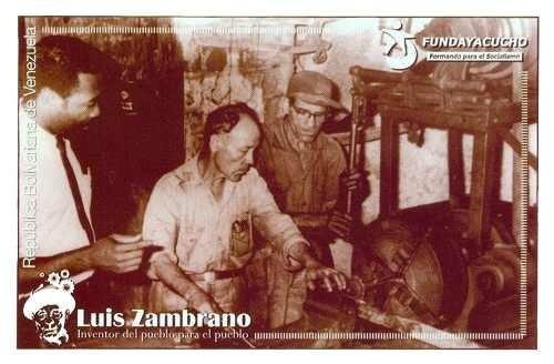 postales luis zambrano inventor del pueblo 2013.