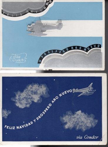 postales via condor - lufthasa