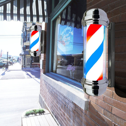 poste barberia giratorio grande peluquería lampara luz led