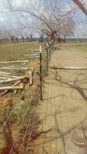poste de acero agrofacil 1.50m cerca eléctrica - púa - malla