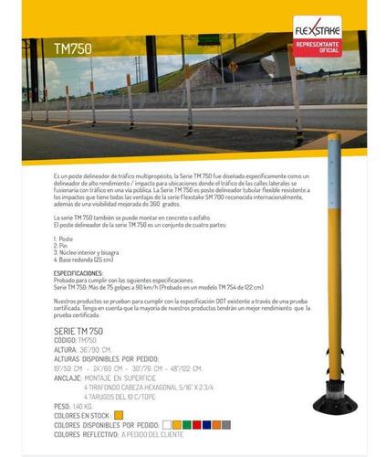 poste delineador flexible alto transito