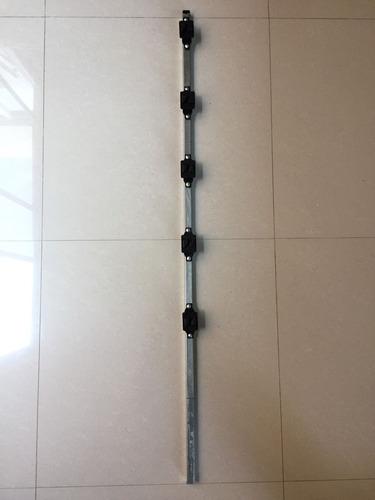 poste galvanizado para cerca electrificada c/5 aisladores