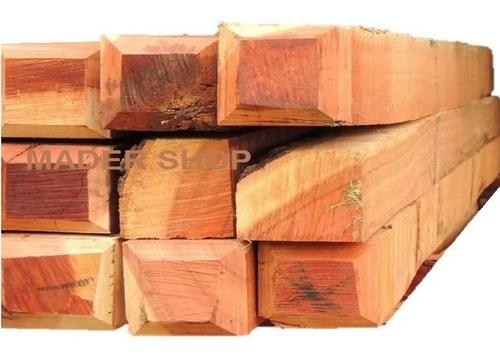 poste madera de euca, cep. 7 x 7 cm x 2,00 mts. mader shop